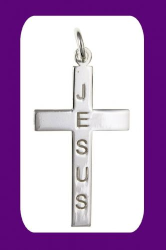 Silver Jesus Cross Pendant Sterling Silver 925 Hallmark All Chain Lengths